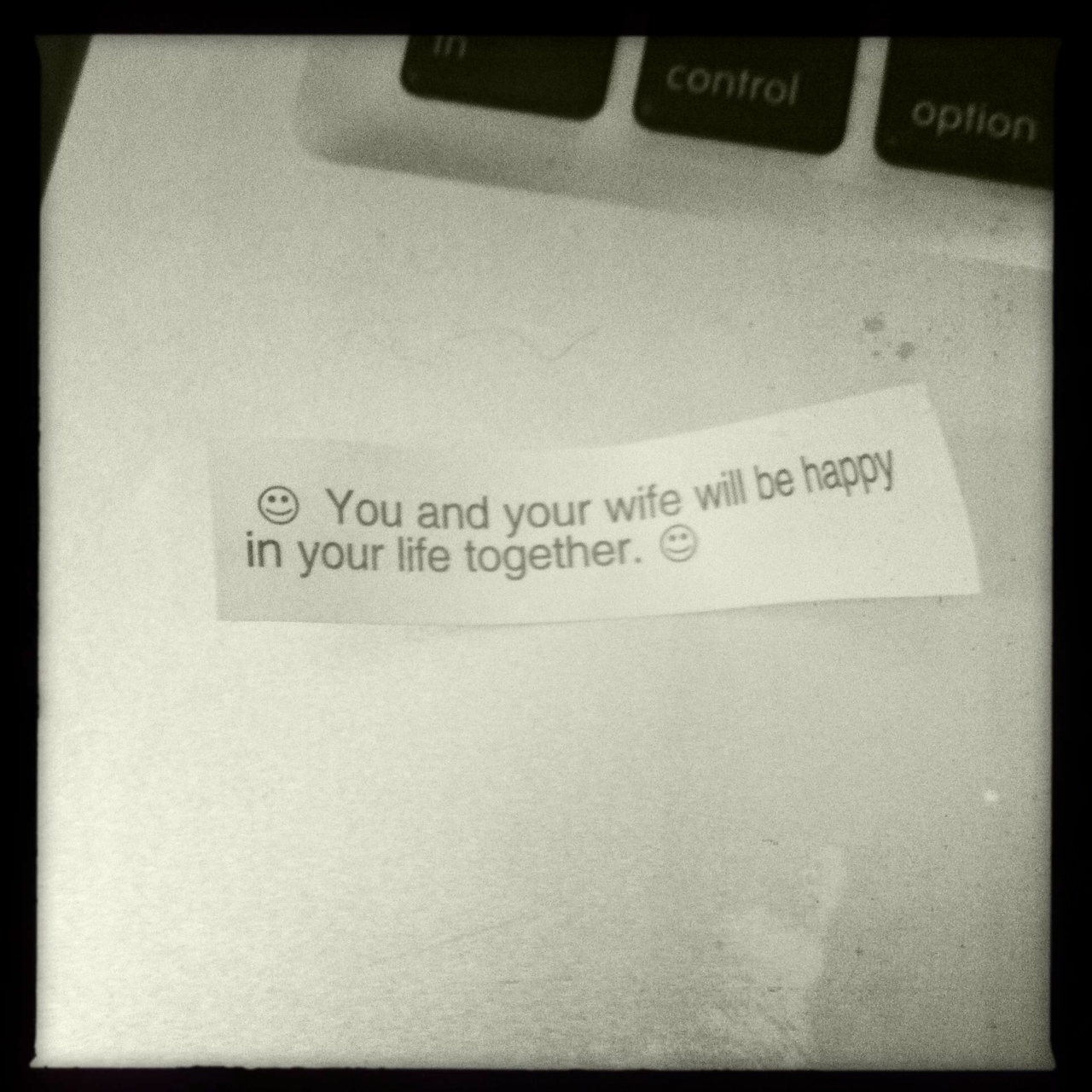 My husbands fortune cookie